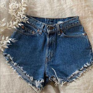 Levi's vintage jean shorts size 24